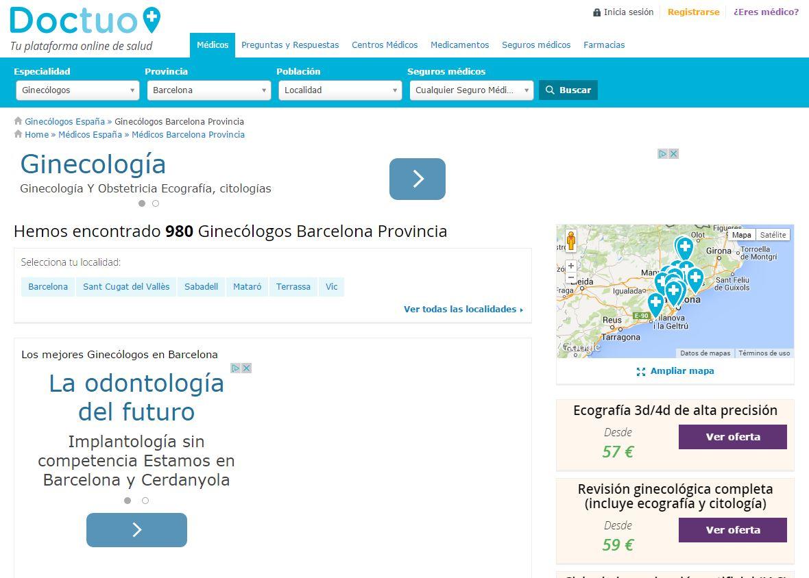 doctuo_ginecologos_barcelona_sector_medico